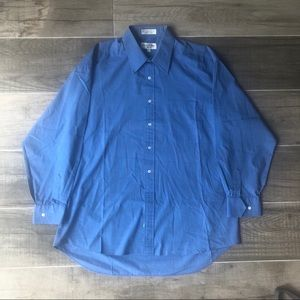 Christian Dior chemise button-up blue dress shirt